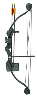 25lb Black Compound Bow
