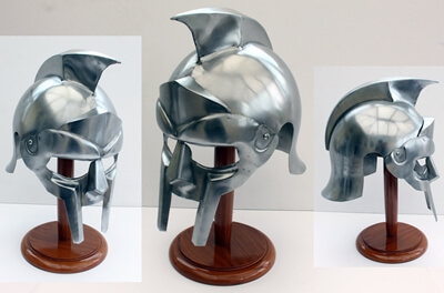 Gladiator Helmet and Stand